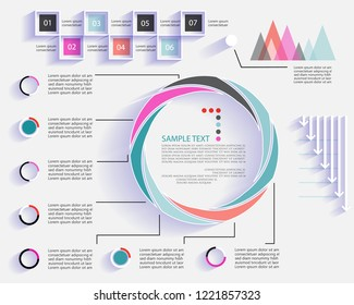 Elements for business data visualization. Infographic design