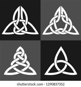 Elements of Celtic ornament. Vector is separate