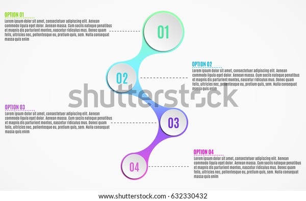 Elements of infographics for business projects. Paper chart in 3d style. Volumetric, paper circles with options numbers for the web. Vector illustration of a metaball style. EPS 10