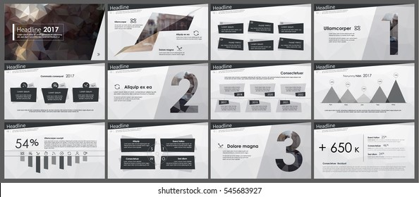Elements of infographics in low poly style design on a white background. Presentation templates. Use in presentation, flyer and leaflet, corporate report, marketing, advertising, annual report, banner