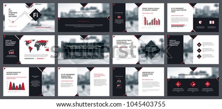 elements infographics presentations templates annual report stock