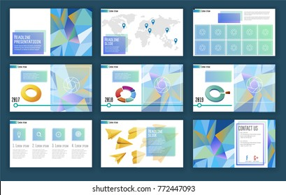 Elements of infographics for presentations templates. Presentation templates. Leaflet. Annual report. Book cover design. Brochure. Layout. Flyer layout template design. Vector illustration Eps10 file