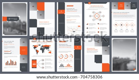 elements infographics report template presentations templates stock