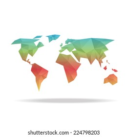 elements Vector world map