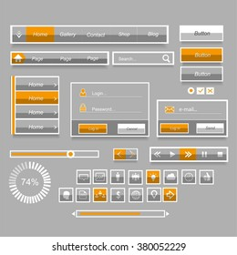 Elements of website design interface
