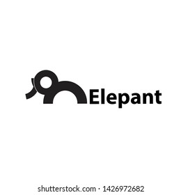 Elepant logo design with clean background