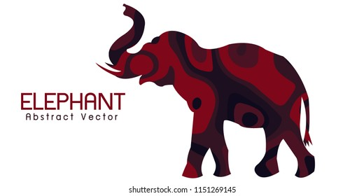 elephant Abstract illustration vector