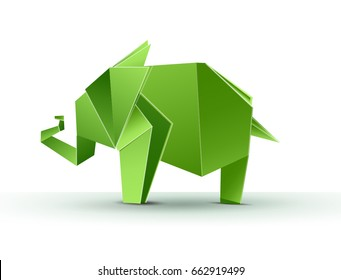 Elephant abstract isolated on a white background. Vector illustration Eps10 file