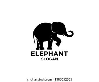 elephant black logo icon designs vector illustration sign silhouette