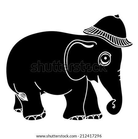 elephant cap wear stock vector royalty free 212417296 shutterstock