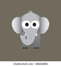 Elephant cartoon vector