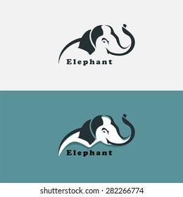 Elephant design template. vector