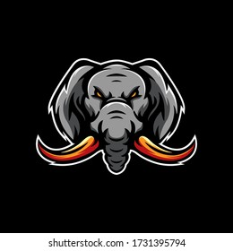 Elephant E Sports Logo Template