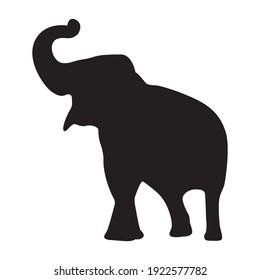 Elephant element object on white background elephant wild animal vector illustration.