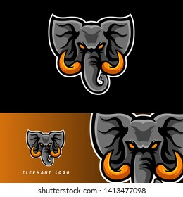 Elephant esport gaming mascot logo template, suitable for your team, business, and personal branding