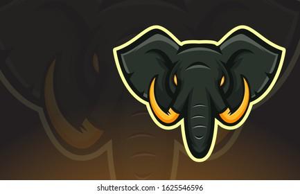 Elephant E-sport Mascot Logo Design