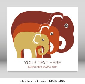 Elephant family unit.