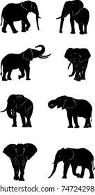 elephant, figure, vector, graphic, image, isolated, illustration