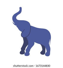 Elephant icon isolated on white background. Trendy flat style for graphic design, web-site. Vector illustration EPS 10.