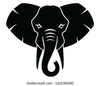Elephant icon, logo, emblem, sign, symbol, vector, illustration, isolated, silhouette