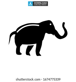 elephant icon or logo isolated sign symbol vector illustration - high quality black style vector icons