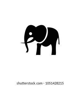 Elephant icon. Vector elephant silhouette