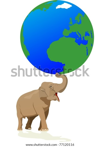 Elephant - the largest representative of the animal world keeps Earth.