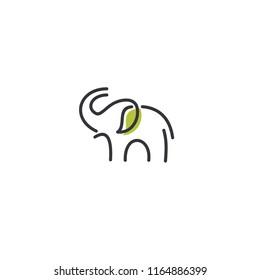 elephant line logo icon designs