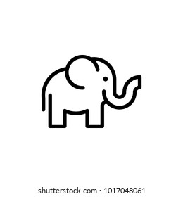 Elephant Lineart Logo
