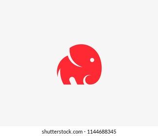 Elephant logo design. Animal vector logotype