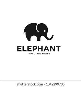 Elephant logo design icon vector