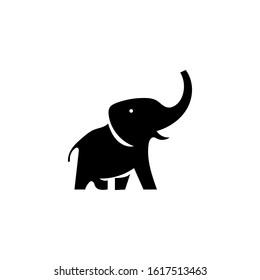 elephant logo design template element