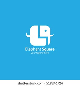 Elephant logo design template. vector illustration