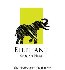 Elephant logo template.