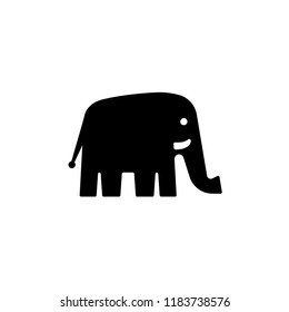 Elephant logo template, vector icon isolated on white background