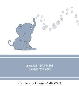 Elephant making soap bubble