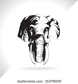elephant, mammoth, vector