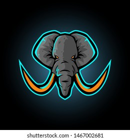 elephant mascot logo design vector with modern illustration concept style for badge, emblem and tshirt printing. elephant illustration for sport and esport team.