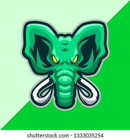 Elephant Mascot Logo for a sport team, Youtube Gaming,Twitch,logo design vector