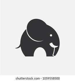 Elephant. Naive vector icon