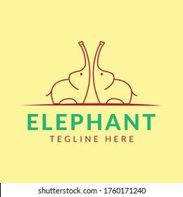 Elephant pet company creative animal logo