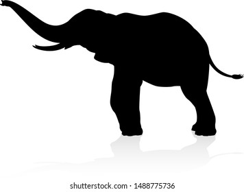 An elephant safari animal silhouette
