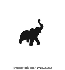 elephant silhouette icon vector on a white background