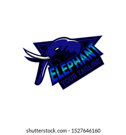 elephant sport vector logo concept isolated on white background.