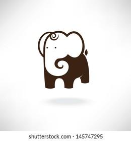 elephant in symbol style