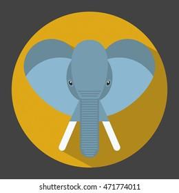 Elephant vector, icon style