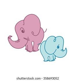 elephant vector illustration