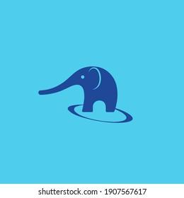Elephant. Vector illustration. Flat design..