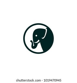 elephant vector outline minimalist and characters funny