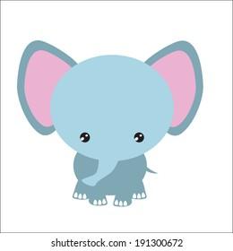 Elephant vector safari illustration
